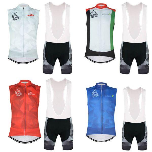 TOUR de DUBAI SLOVAKIA team Cycling Sleeveless jersey Vest (bib)shorts sets multiple choices men Bike Clothing Mountain bike Sportwear c2920