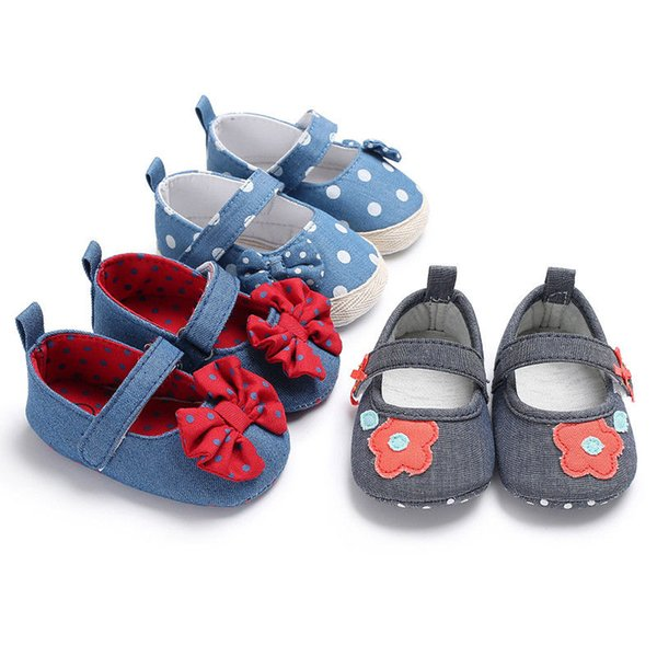 Pudcoco Denim Canvas Infant Kids Baby Girl Flower Shoes Casual Summer Beach Toddler Prewalkers Shoes
