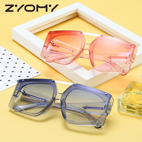 Brand Designer Clear Lenses Double Beam Unique Oculos de sol Gafas Women Sunglasses UV400 Square Men Shades Sun Glasses 2018