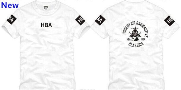 Freie Verschiffen-chinesische Größe S - XXXL-Sommert-shirt HBA-T-Shirt HBA war Trill Kanye-Westt-shirt 100% Baumwolle 6 Farbe W6