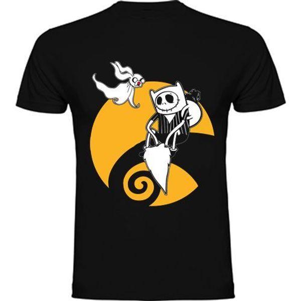 Camiseta Hora De Aventuras-Tributo A Pesadilla Antes De Navidad En Kaliteli Pamuk Rahat Erkekler T Shirt Erkekler Ücretsiz Kargo