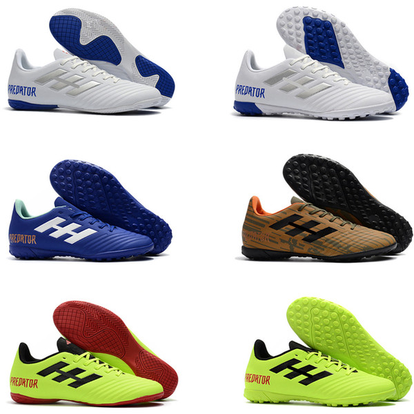 Hot Sell 2018 Mens Soccer Cleats Predator Tango 18.4 IC TF Football Boots Best Quality Soccer Shoes Size EUR39-45