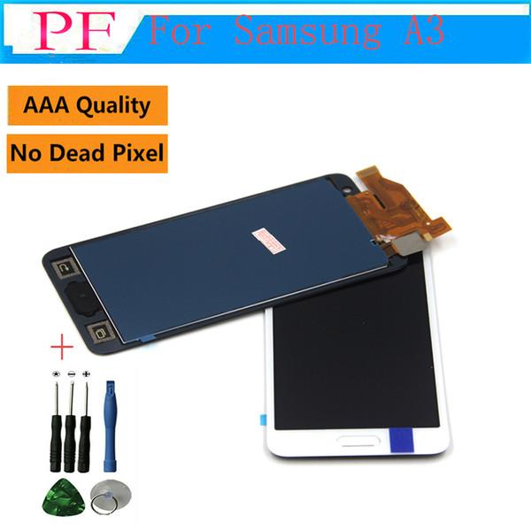 A + + + Kalite TFT LCD Ekran Samsung Galaxy Için A3 2015 A300 A3000F SM-A300F LCD Yedek Parçalar Parlaklık ayarlanabilir + Onarım Aracı