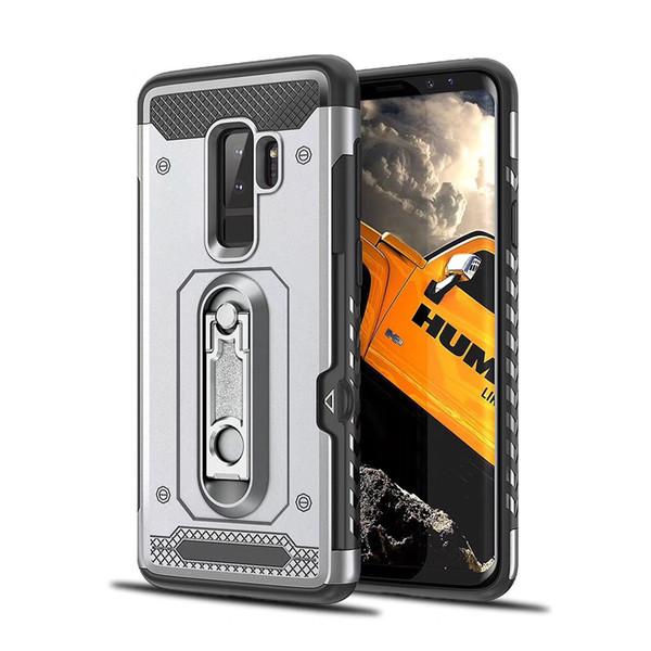 Couverture de protection hybride Kickstand Couverture de téléphone pour Samsung Galaxy Note 8 Note5 A6 Plus 2018 A5 A7 2017 S7 Bord Carte Poche Dual Layer Case