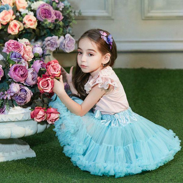 Nuovo arrivo neonate tutu gonna moda bambini principessa partito fluffy pettiskirt moda tulle abbigliamento per bambini