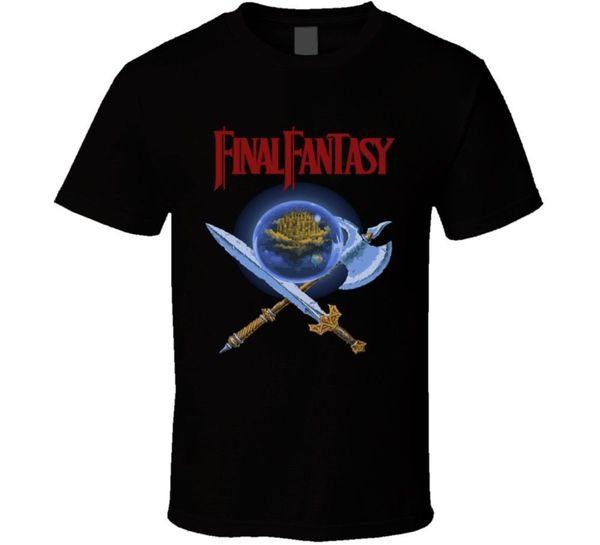 Final Fantasy Nes Box Art Retro Video Game T Shirt Cartoon T Shirt Men Unisex New Fashion Tshirt Loose Size Top Ajax T Shirts
