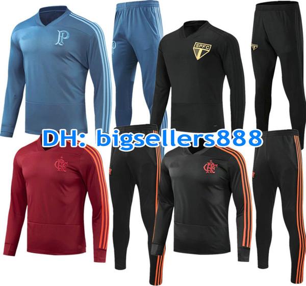Palmeiras 18 19 Sao Paulo jacket Training suit kits soccer Jersey 2018 2019 Flemish flamengo football shirt Brazil Club Chandal Flamengo
