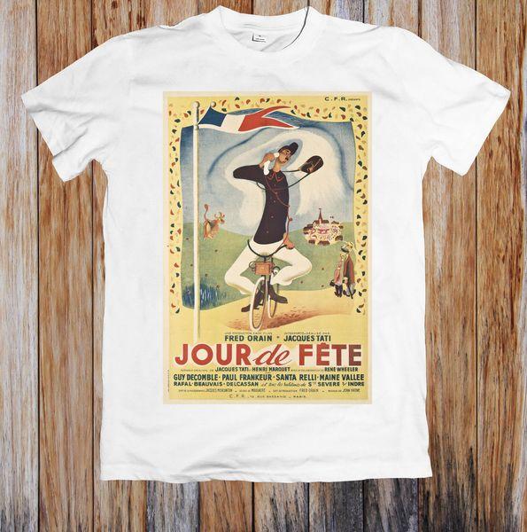 JOUR DE FETE 40 фильм плакат мужская футболка мужская 2018 модный бренд футболка О-образным вырезом 100%хлопок футболка