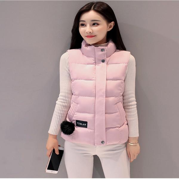 273824dc7ab LISYRHJH 8 color Women Winter Vests 2017 New Lightweight Slim Short Vest  Cotton Padded Jacket Sleeveless