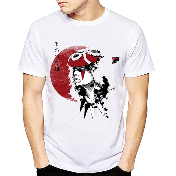 2018 Camiseta Mononoke Wolfs BloodSwordsman Camiseta Ghibli Japanese Anime Design Creative T-shirt Moda Novedad Estilo Cool Tops