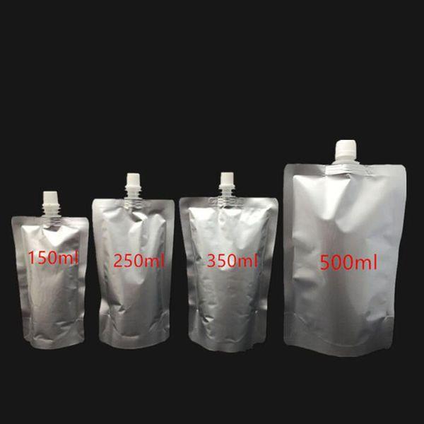Doypack 150ml 250ml 350ml 500ml Aluminum Foil Stand Up Spout Liquid Bag Pack Beverage,Squeeze,Drink Spout Pouch QW8803