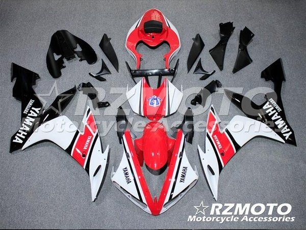 Injection mold New Fairings For Yamaha YZF-R1 YZF R1 2004 2005 2006 01 R1 04 05 06 ABS Motorcycle Fairing Kit Red Q11