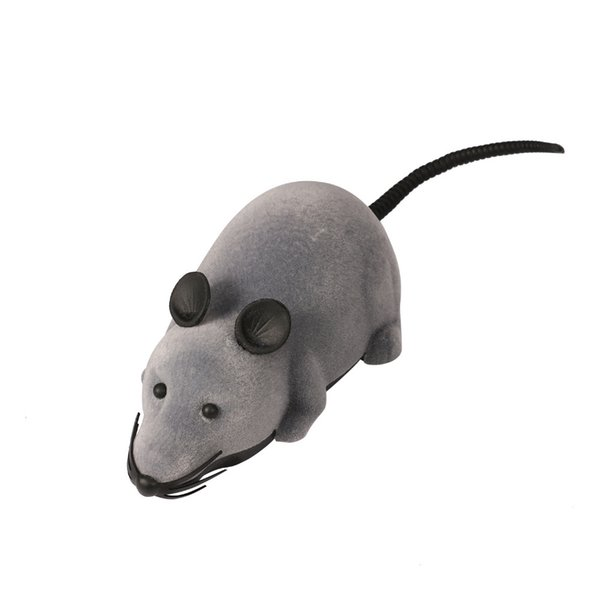 RC Wireless Simulatio Remote Control Rat Mouse Toy For Cat Kitten Playing Toy Kids Toys Novelty RC Electric Flocking Mouse