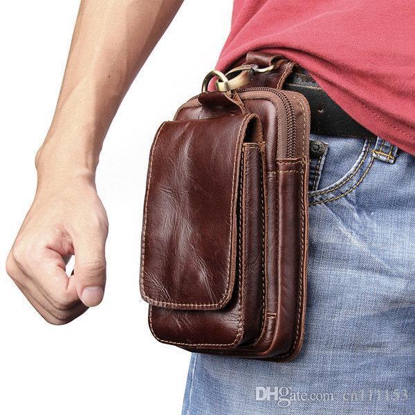 Universal Holster Gürtel Taille Männer Flip Echtes Leder Vertikale Handytasche für iphone X 8 Plus Galaxy S9 Plus Huawei P20 Pro