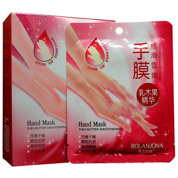Rolanjona Milk Bamboo Vinegar DHL hand Mask Peeling Exfoliating Dead Skin Remove Professional hand sox Mask hand Care 2pcs=1pair in stock