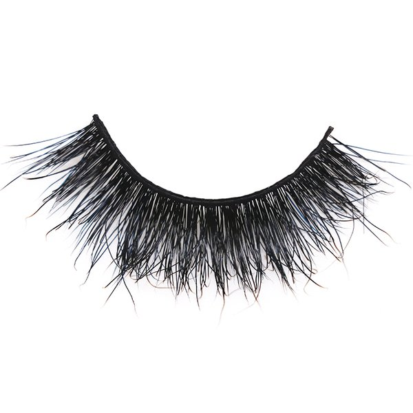 1pair 12 styles 3D Mink lashes Plastic Black Terrier Natural Long Thick false eyelashes Hand Made with clear band makeup tools JFX-H27