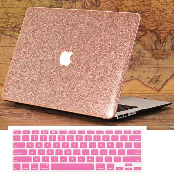competitive price 3a26b 326e5 2019 Rose Gold Glitter Bling Case + Keyboard Cover For MacBook AIR PRO 11  13 15 From Fibereasy, $19.16   DHgate.Com