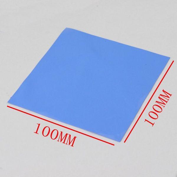Blue GPU CPU Heatsink Cooling Thermal Conductive Silicone Pad 100x100x0.5mm B$CA