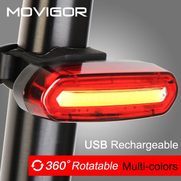 120Lumens USB Rechargeable Bicycle Rear Light Cycling LED Taillight Waterproof MTB Road Bike Tail Light Back Lamp for Bicycle