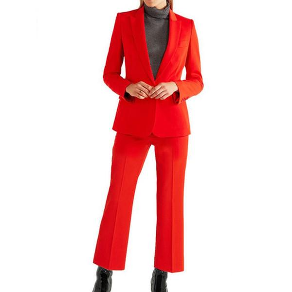 Customized autumn business formal elegant women's ladies suit two-piece suit (jacket + pants) women's fashion slim slimming suit