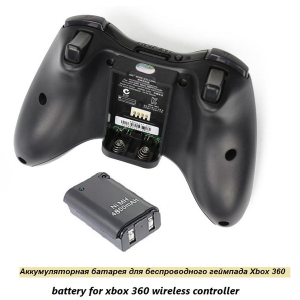 Best 4800mAh Battery Pack +Charger Cable for Xbox 360 Wireless Game Controller Gamepads Battery Pack Xbox 360 Bateria Replacement