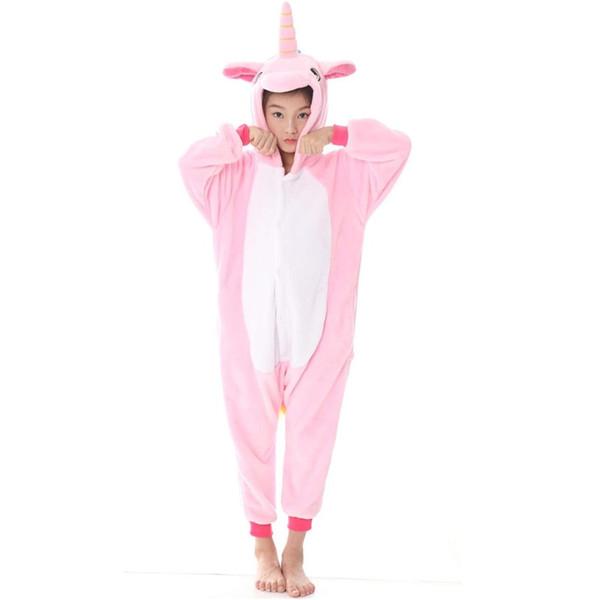 Çocuk Kız erkek pijama renk pembe Unicorn Anime Onesie Çocuk Kostüm Çocuk Pijama Battaniye Tulum Bebek Uyuyanlar MX-039