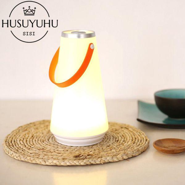 Casa Toque Interruptor Night Light Table Lamp Acampamento Ao Ar Livre Luz De Emergência Portátil Sem Fio LED USB Recarregável Camping
