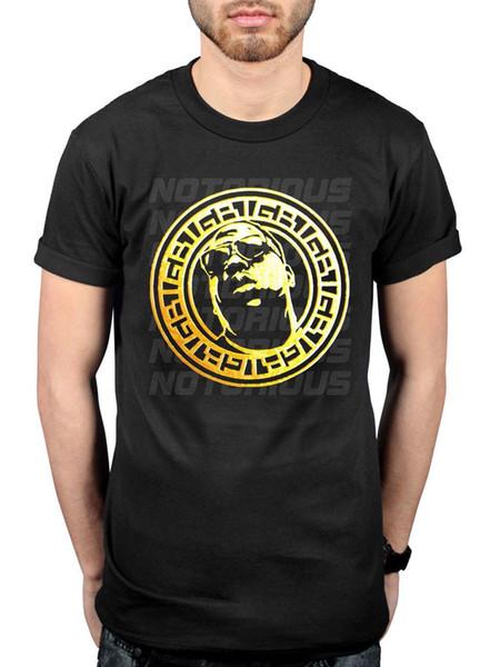Official Biggie Smalls Gold Circle T-Shirt Kick In The Door Ten Crack Commandmen