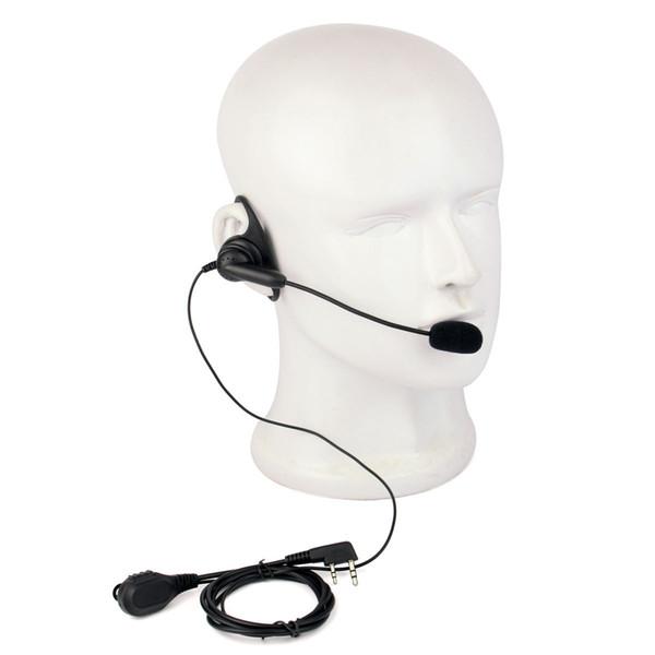 D-Shape PTT Earpiece Headset W/boom Mic for Kenwood UV5R Retevis TYT 2-WAY RADIO