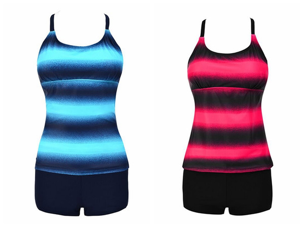 Summer woman swimwear women's fashion printed strappy back tank top and shorts bathsuit big size swim suit bech wear for girl lady M-4XL