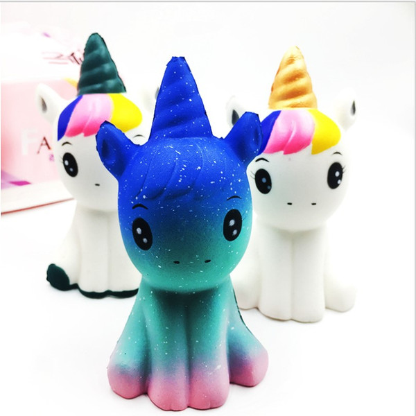 Big sale New arrival Fashion Colorful Soft Squishy Unicorn Healing Squeeze Flexible Kids Toy Gift Stress Reliever Funny Decor