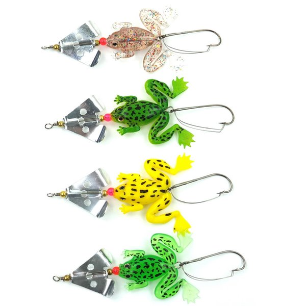 """new Rubber Frog Soft Bait Fishing Lures Bass CrankBait Tackle 9cm/3.54"""" free shipping"""