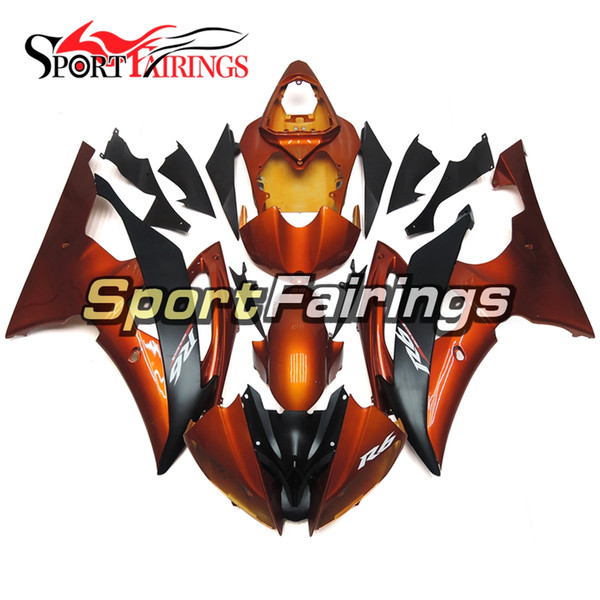 Orange Black Motorcycles Fairing Kit For Yamaha YZF600 R6 YZF-R6 2008 - 2016 09 12 13 14 15 Injection ABS Plastic Motorcycle Body Kits New