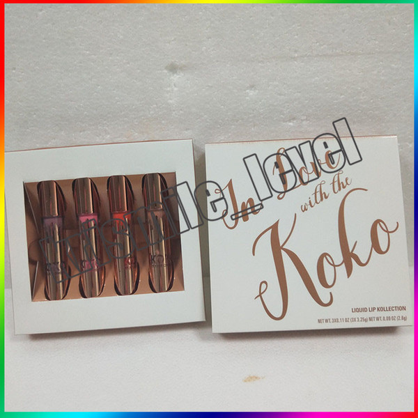 New koko kollection in love with matte lip tick koko kollection face palette 4 color lip glo co metic