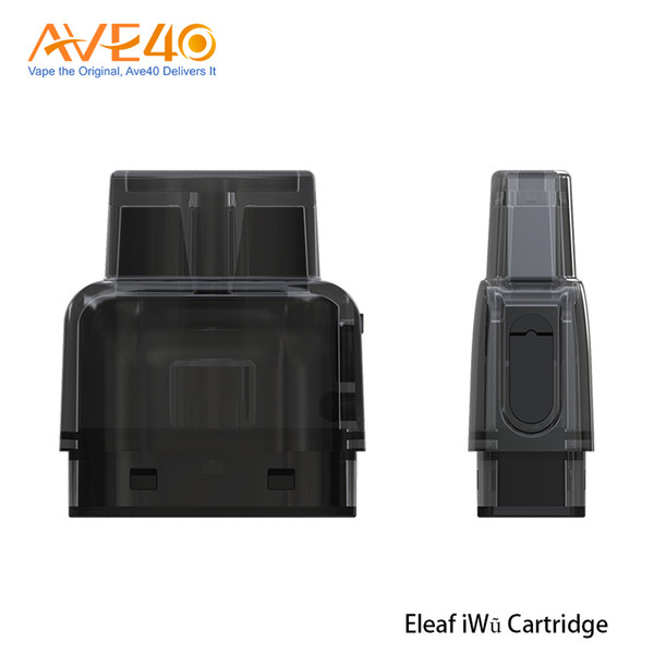 Eleaf iWu Cartucho vacío 2ml Capacidad para Eleaf iWu Kit 1.3ohm Resistencia Diseño de llenado lateral 5pcs / lot 100% Original