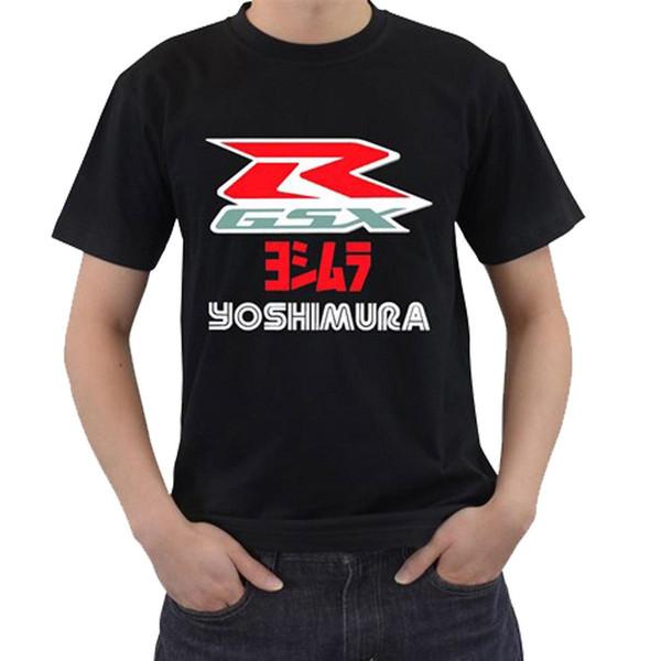 Nova Suzuki GSXR Yoshimura Logotipo Corrida Motor Mens Preto T-Shirt Tee S -