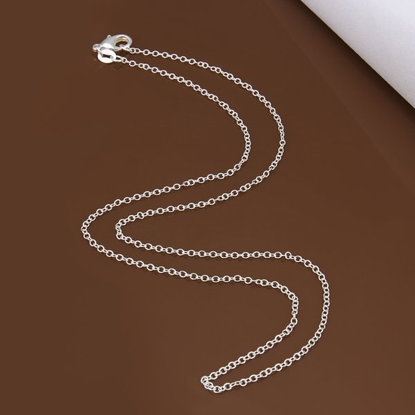 Big Promotion! wholesale 925 stamped silver plated necklace, silver fashion jewelry Rolo Chain 1mm Necklace 16 18 20 22 24 INCHE 20pcs
