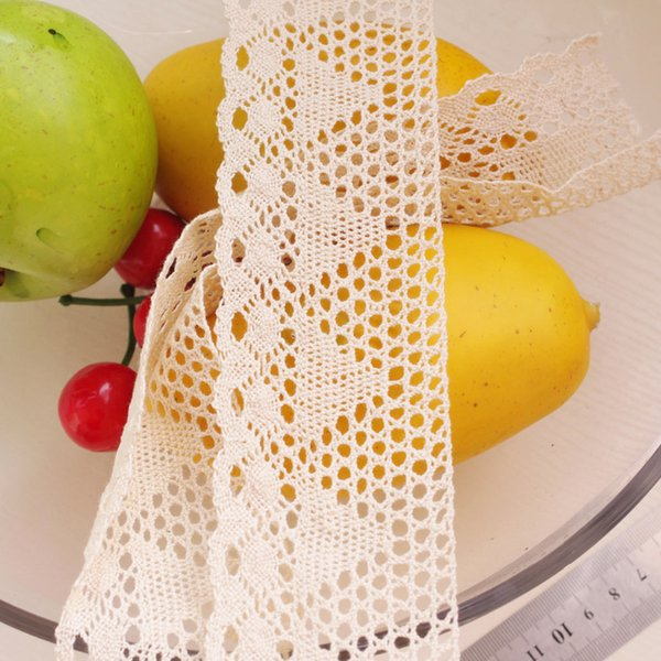 50 Yards Sun Flower Beige Cotton Lace Ribbon Braided Diy Accessories 600201 African Lace Fabric 600201