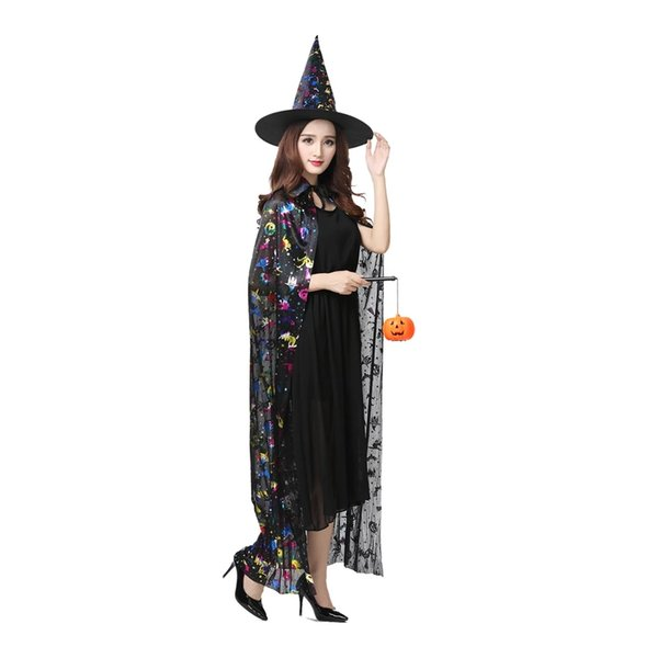 Halloween costume female cosplay prom witch witch costume adult male cloak death pirate cloak funny cute free shipping