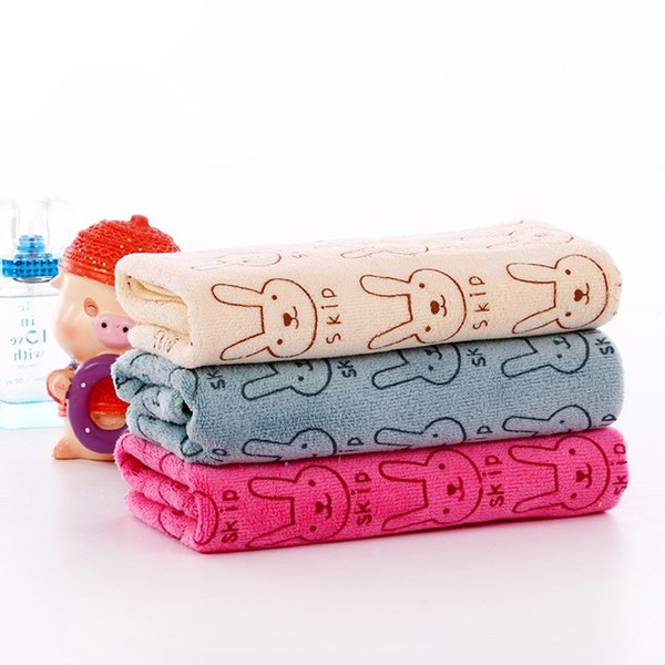 JI-015 25*50cm New Fashion Baby Kids Soft Bath Washing Handkerchief Towels Multi Colors 100% Cotton Washcloth Wipe Hand Face Cloth