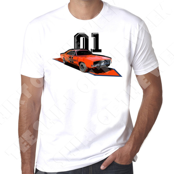 Details zu General Lee Dukes of Hazard Dodge Charger retro style 100% cotton mens tshirt Funny free shipping Unisex Casual