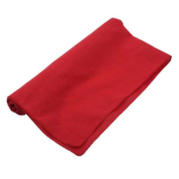 Fancy Plain Bandana 100% Cotton Head Neck Wrist Wrap Neckerchief Scarf 12 Color Colour:Red