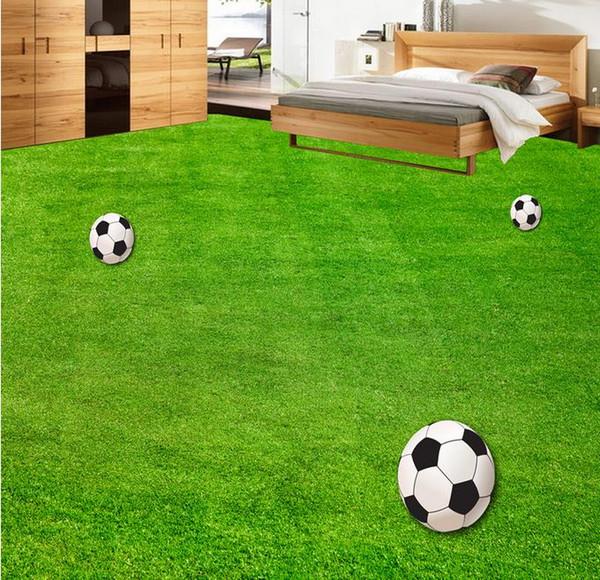 Großhandel Tapeten Wohnkultur Designer Green Fußballplatz Schlafzimmer  Wohnzimmer 3D Boden 3D PVC Bodenbelag Wasserdicht Von Yyyy2015, $50.26 Auf  ...