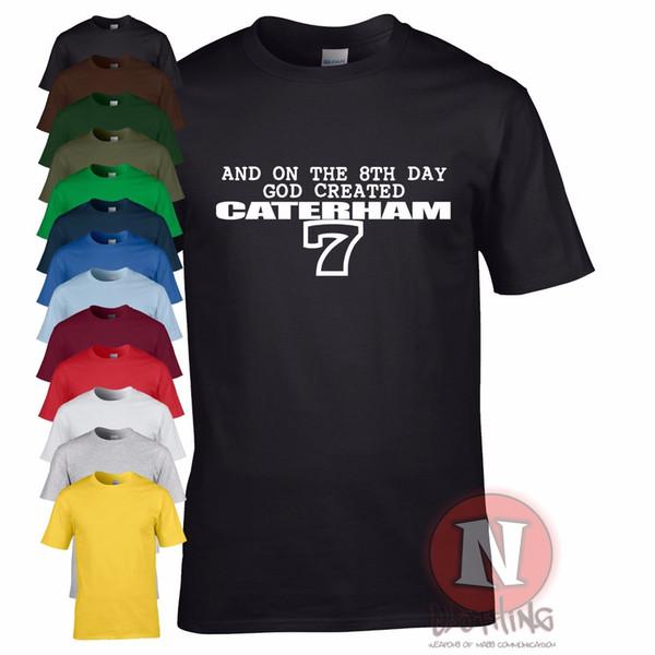 Details zu An der 8th Tag God Created Caterham 7 T-Shirt Track Day Britisch Auto Kit