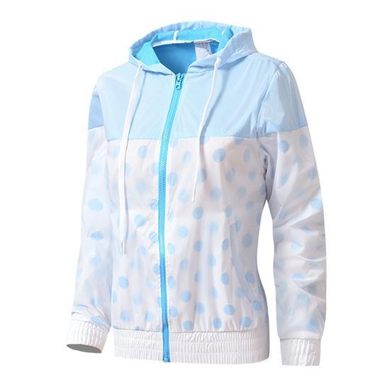 Kadınlar ceketler Yeni Moda Kapüşonlular Pembe Gri Mavi Patchwork Yüksek Kalite İlkbahar Sonbahar Fermuar Spor S1000R yazdır