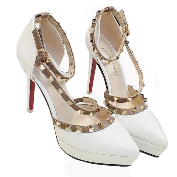 2019 designer platform shoes woman extreme high heels gladiator sandals italian euros rivets red heels shoes high heels sandals women