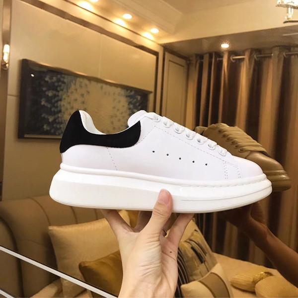 Name Marke Designer Schuhe Mann Casual Frauen Sneaker Low Cut Mischfarben Schnüren Plattform Sneaker Weiß Bunte Rückseite Größe 35-43