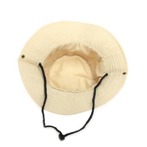 2017 YENI Erkekler Kadınlar Unisex Şapka Balıkçılık için Trekking Kamp Yürüyüş Spor Güneş Kap Yuvarlak Jant Şapka (Bej)