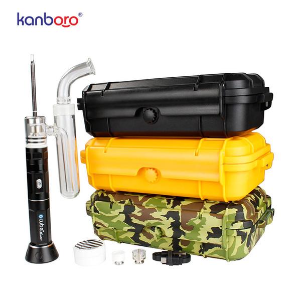 2018 Kanboro Ecube portable wax vaporizer dry herb vape pen for ecig dab rig tool kit
