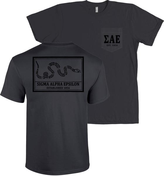 Sigma Alpha Epsilon rejoindre ou mourir Bella + toile POCKET T Shirt SAE Tee NOUVEAU personnalité 2018 Marque T Shirt Top Tees Short